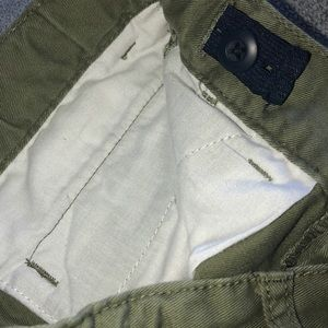 Children's Place Bottoms - Boy's Olive Green Chino Shorts 8